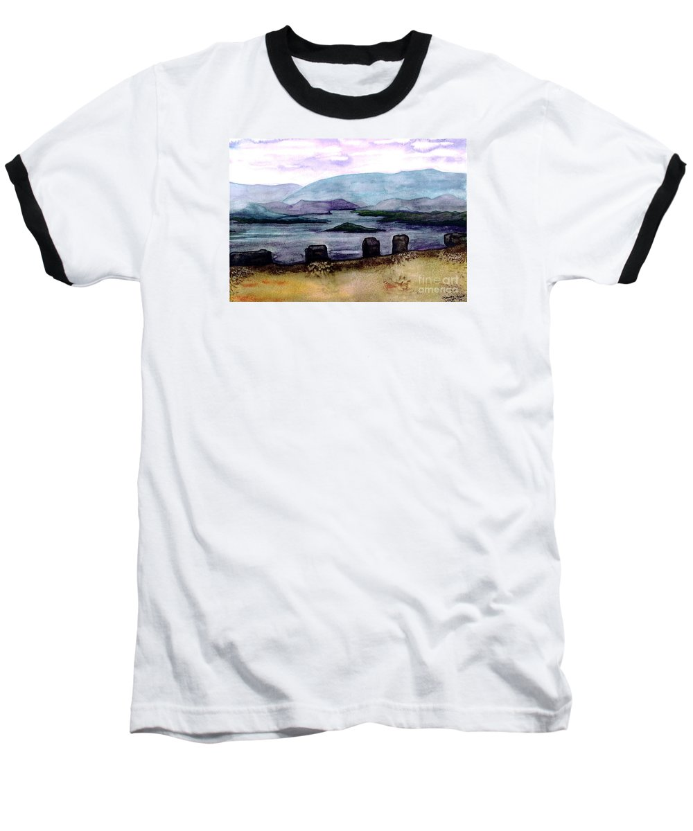 Original Painting Baseball T-Shirt featuring the painting Silent Sentinels by Patricia Griffin Brett
