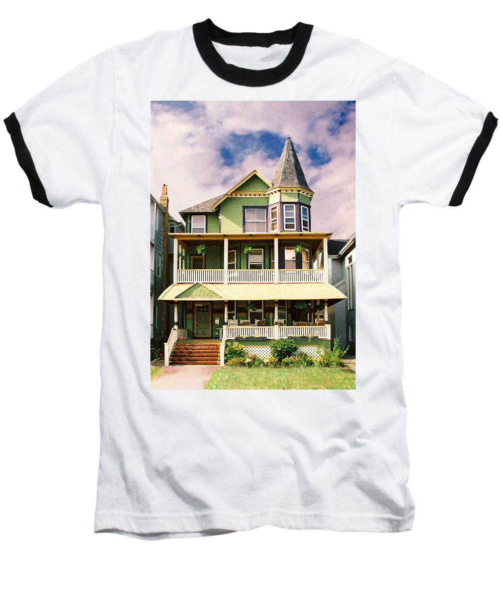 Archtiecture Baseball T-Shirt featuring the photograph Sisters Panel 1 Of Triptych by Steve Karol