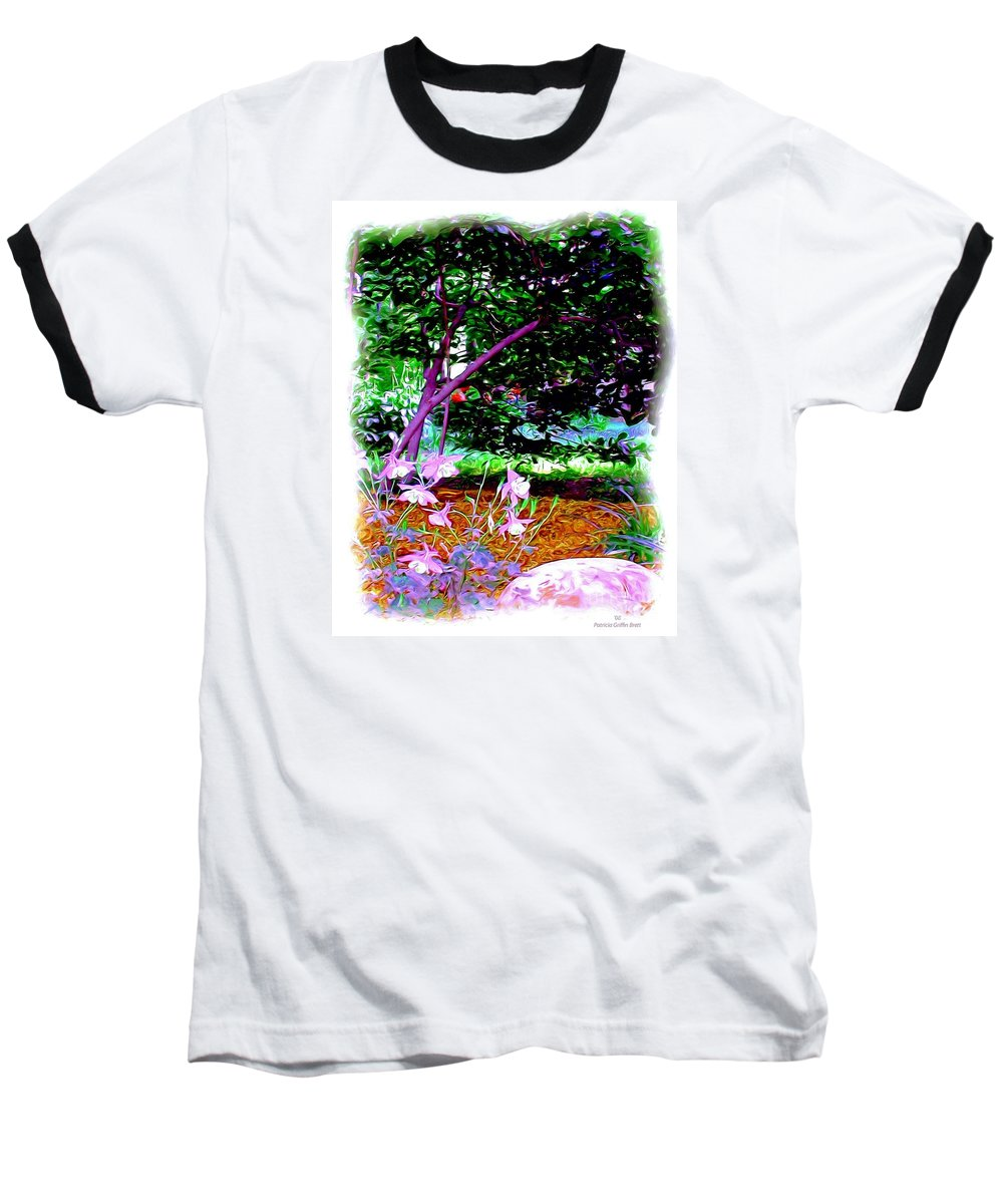 Fine Art Baseball T-Shirt featuring the painting Sitting In The Shade by Patricia Griffin Brett