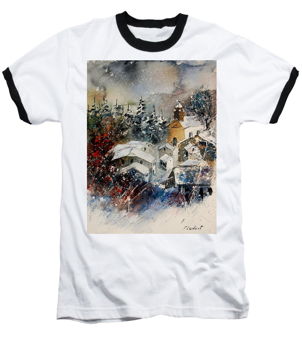 Landscape Baseball T-Shirt featuring the painting Snon In Frahan by Pol Ledent