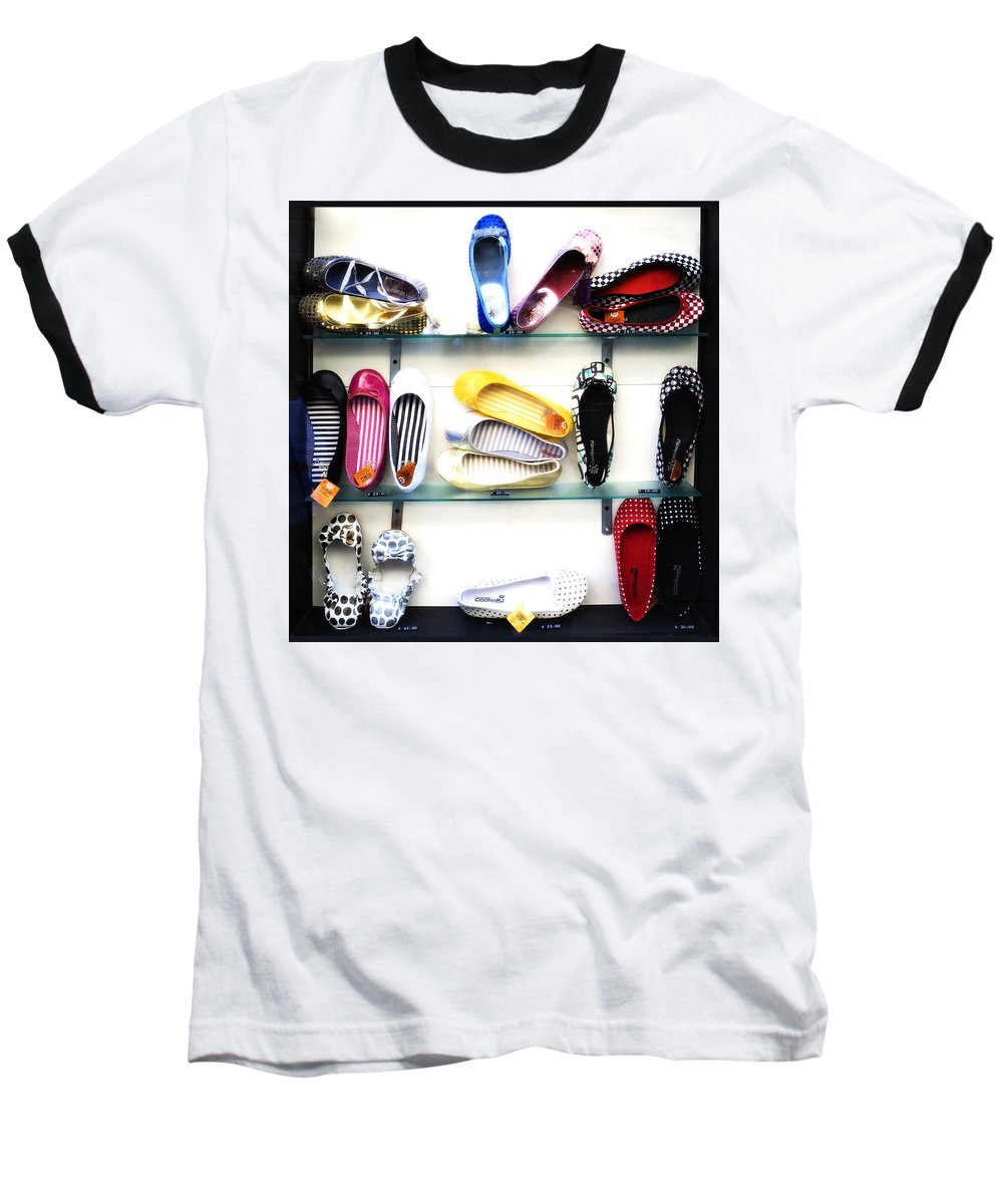 Shoes Baseball T-Shirt featuring the photograph So Many Shoes... by Marilyn Hunt