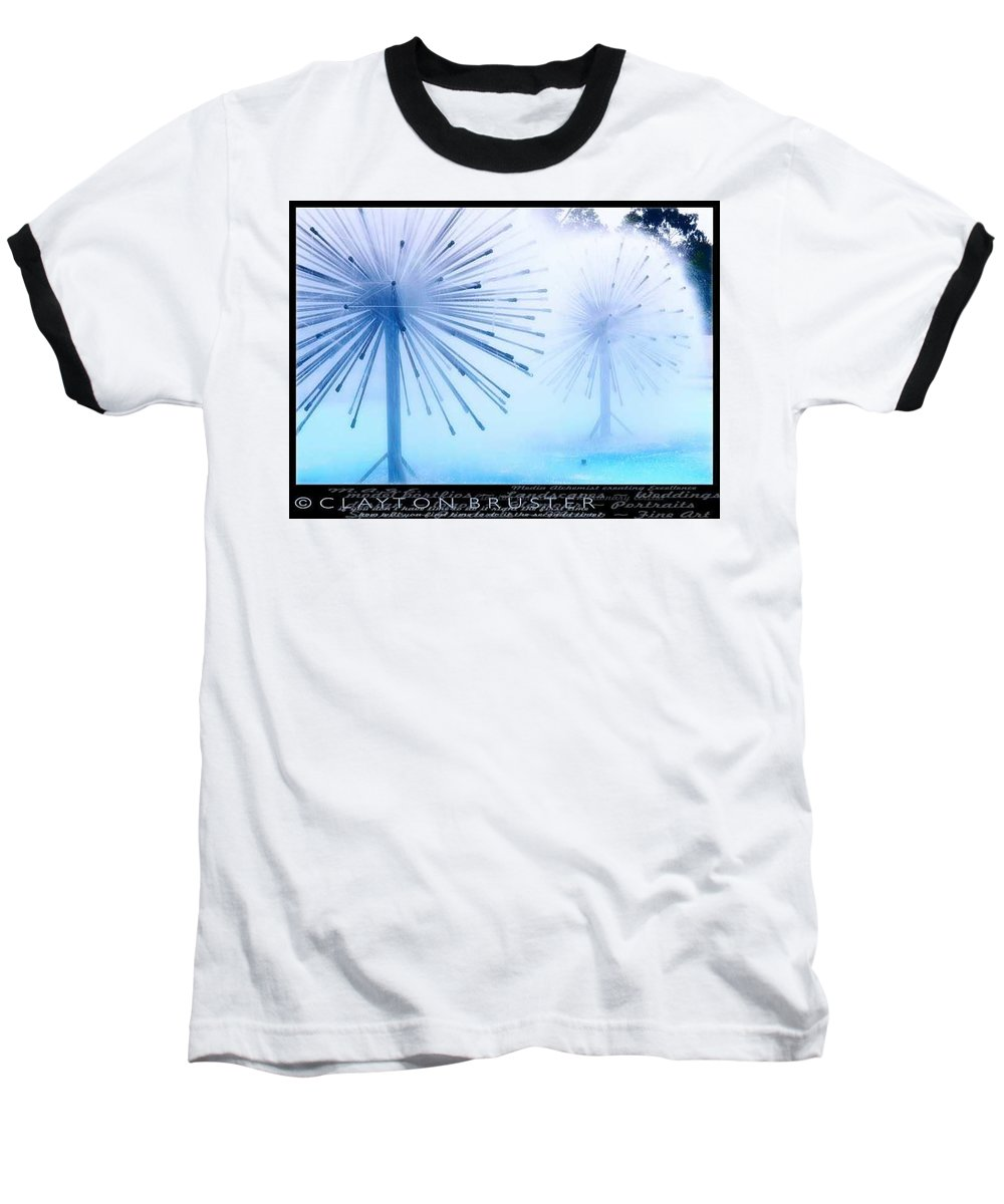Clay Baseball T-Shirt featuring the photograph Southern California Fountains by Clayton Bruster
