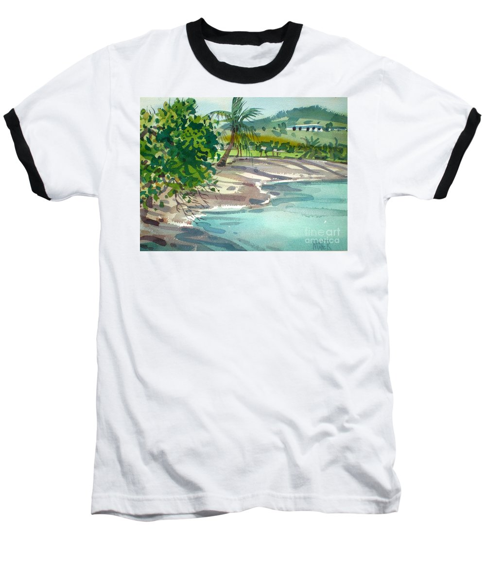St. Croix Baseball T-Shirt featuring the painting St. Croix Beach by Donald Maier