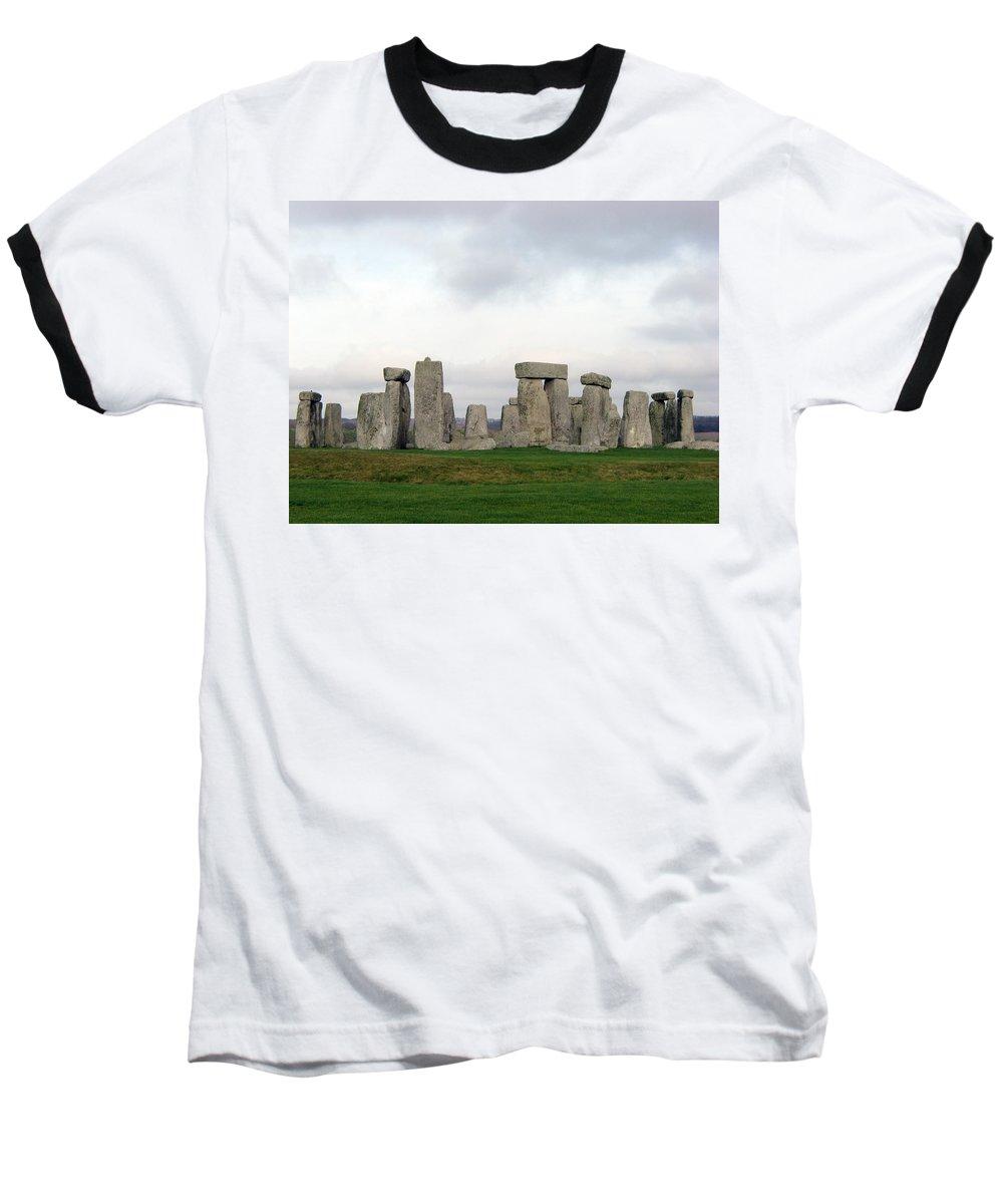 Stonehenge Baseball T-Shirt featuring the photograph Stonehenge by Amanda Barcon