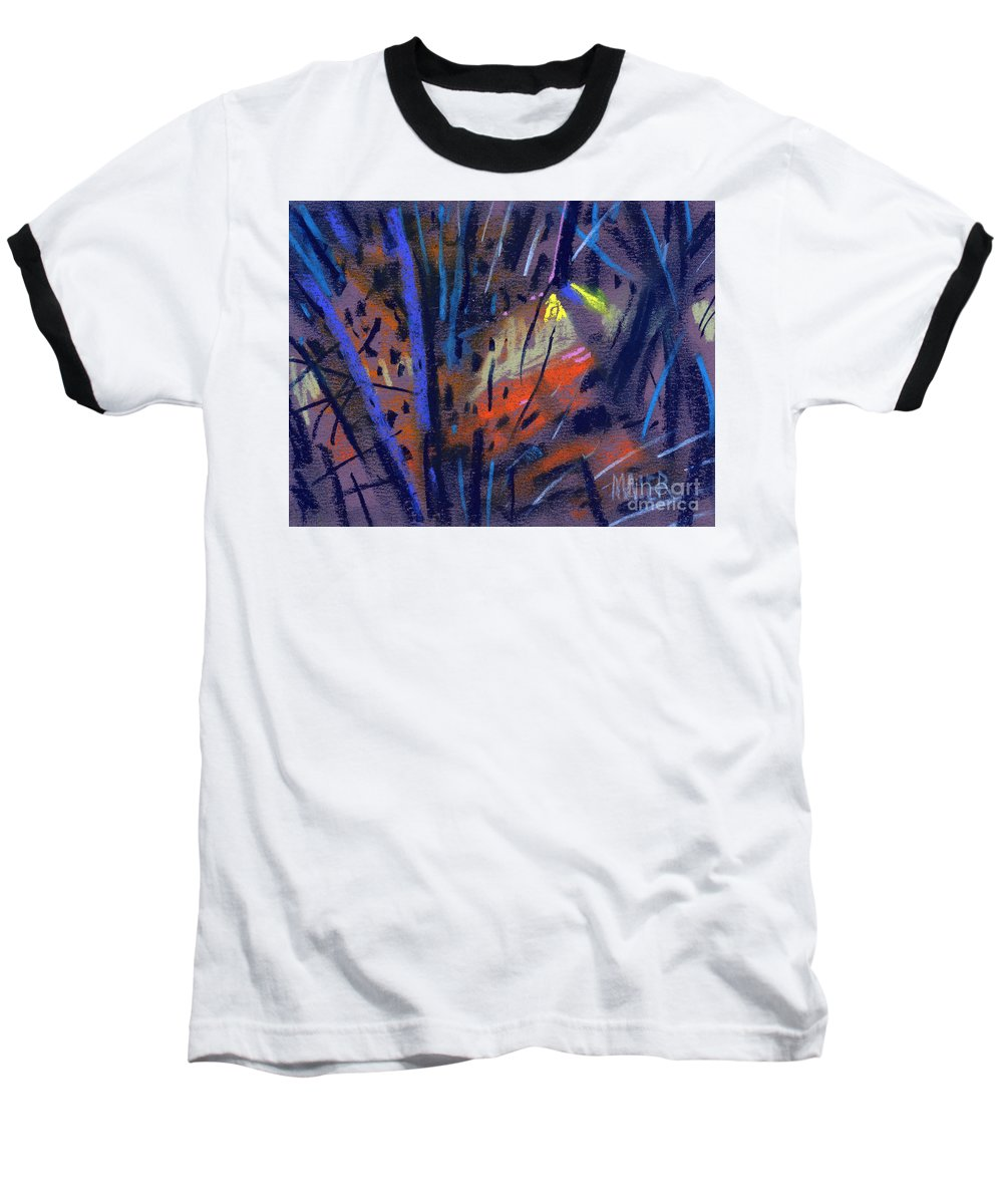 Abstract Baseball T-Shirt featuring the drawing strange Lights by Donald Maier