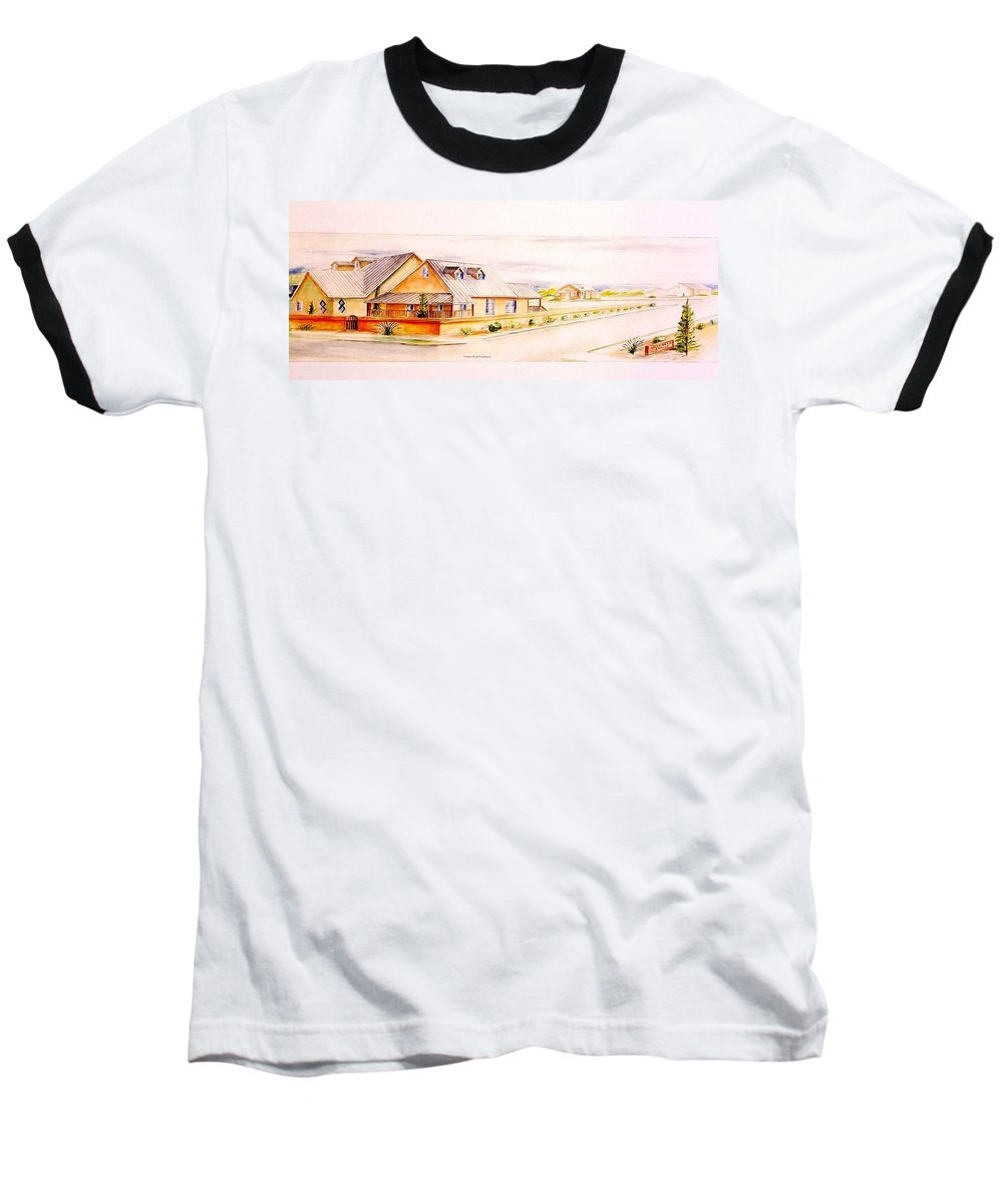 Architectural Renderings Baseball T-Shirt featuring the painting Subdivison Rendering by Eric Schiabor