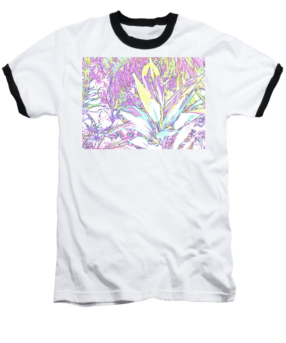Abstract Baseball T-Shirt featuring the photograph Subtle Leaf by Ian MacDonald