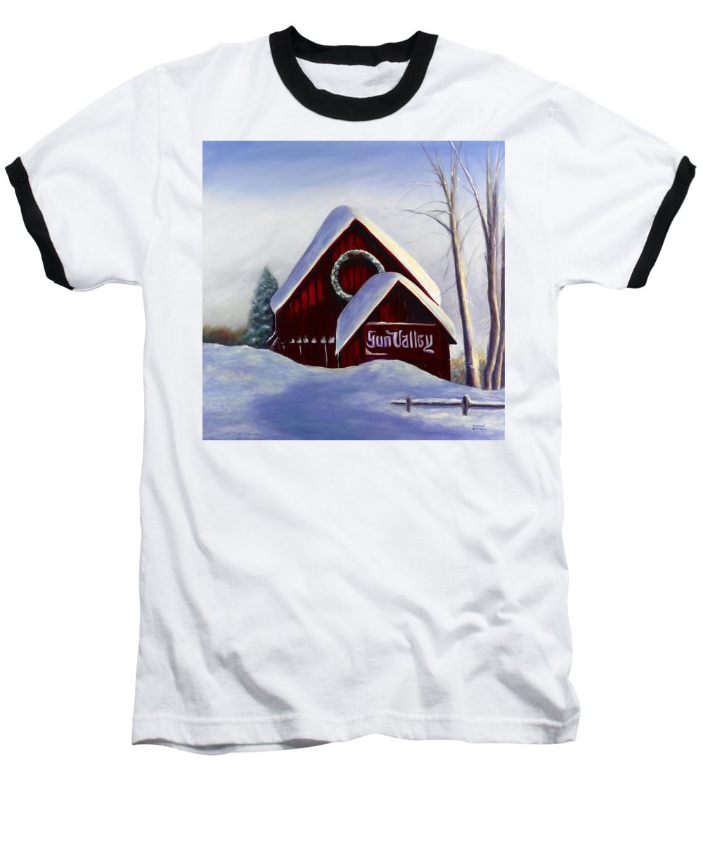 Landscape Baseball T-Shirt featuring the painting Sun Valley 3 by Shannon Grissom