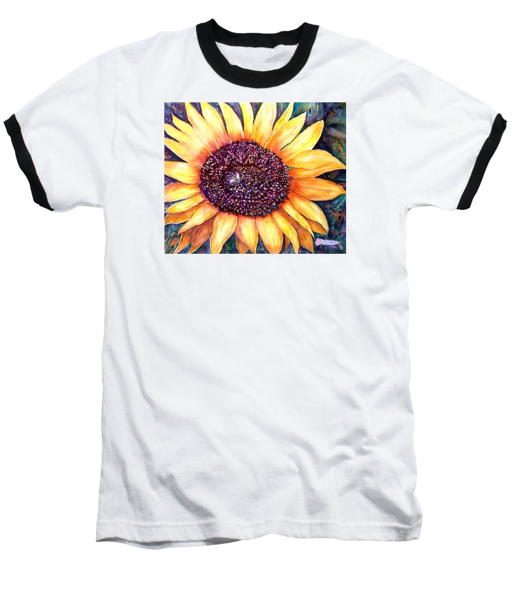 Sunflower Baseball T-Shirt featuring the painting Sunflower Of Georgia by Norma Boeckler