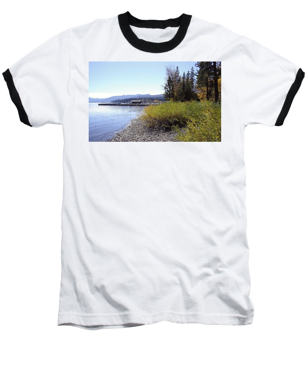 Lake Baseball T-Shirt featuring the photograph Tahoe by Mary Rogers