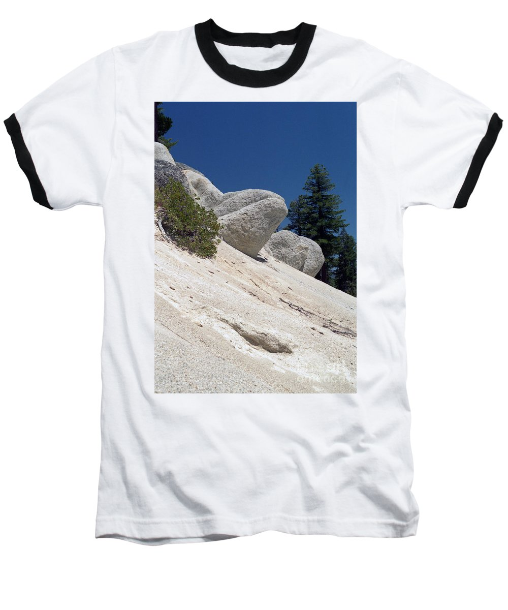 Abstract Baseball T-Shirt featuring the photograph Tahoe Rocks by Richard Rizzo