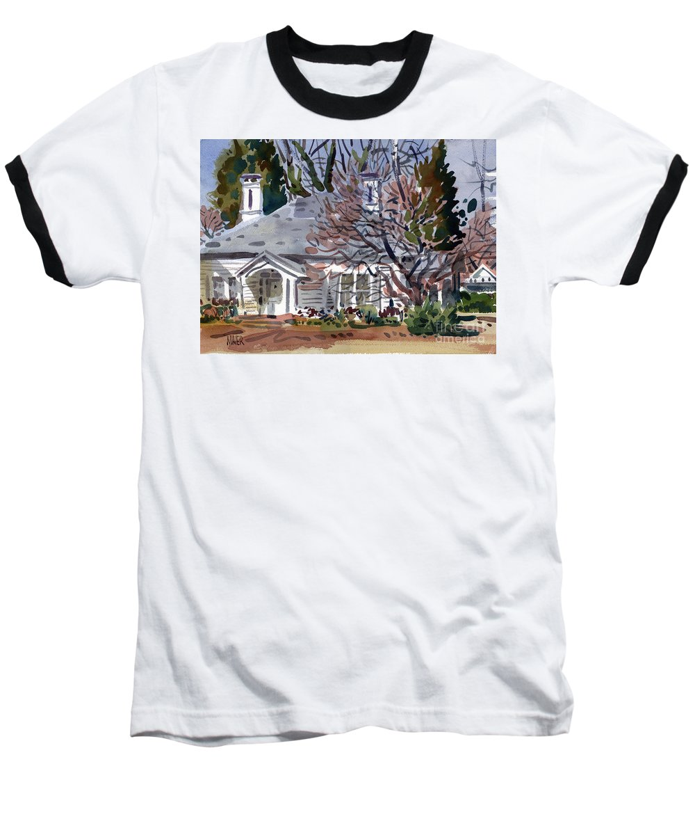 Tapp House Baseball T-Shirt featuring the painting Tapp House by Donald Maier