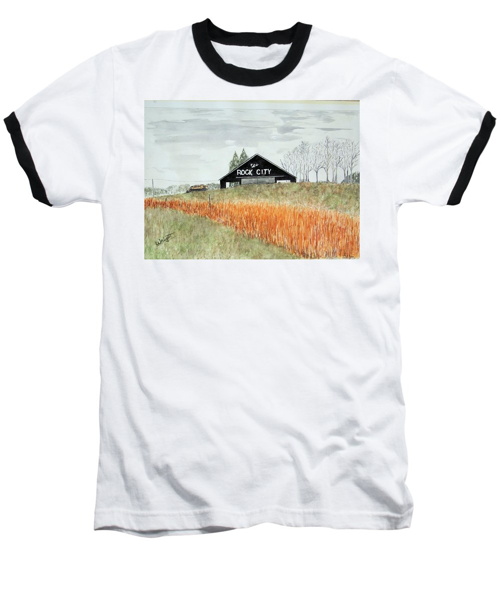 Barns Baseball T-Shirt featuring the painting Tennessee Destination by Larry Wright