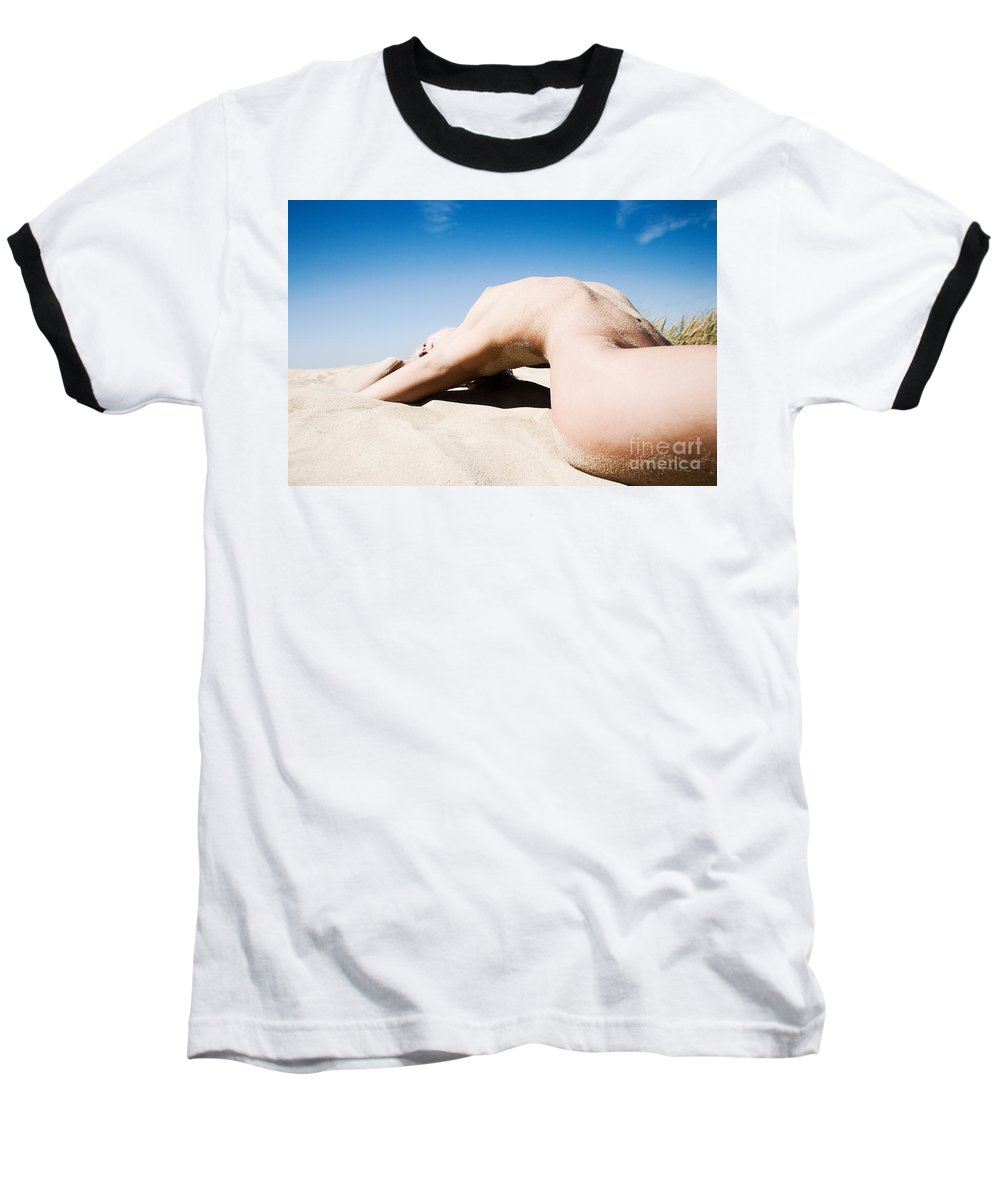 Sensual Baseball T-Shirt featuring the photograph The Bridge by Olivier De Rycke