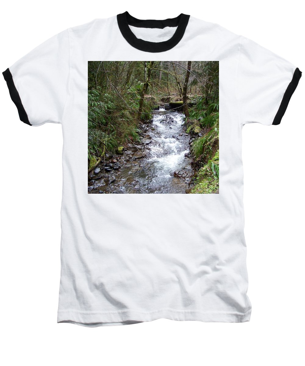 Digital Photography Baseball T-Shirt featuring the photograph The Creek by Laurie Kidd