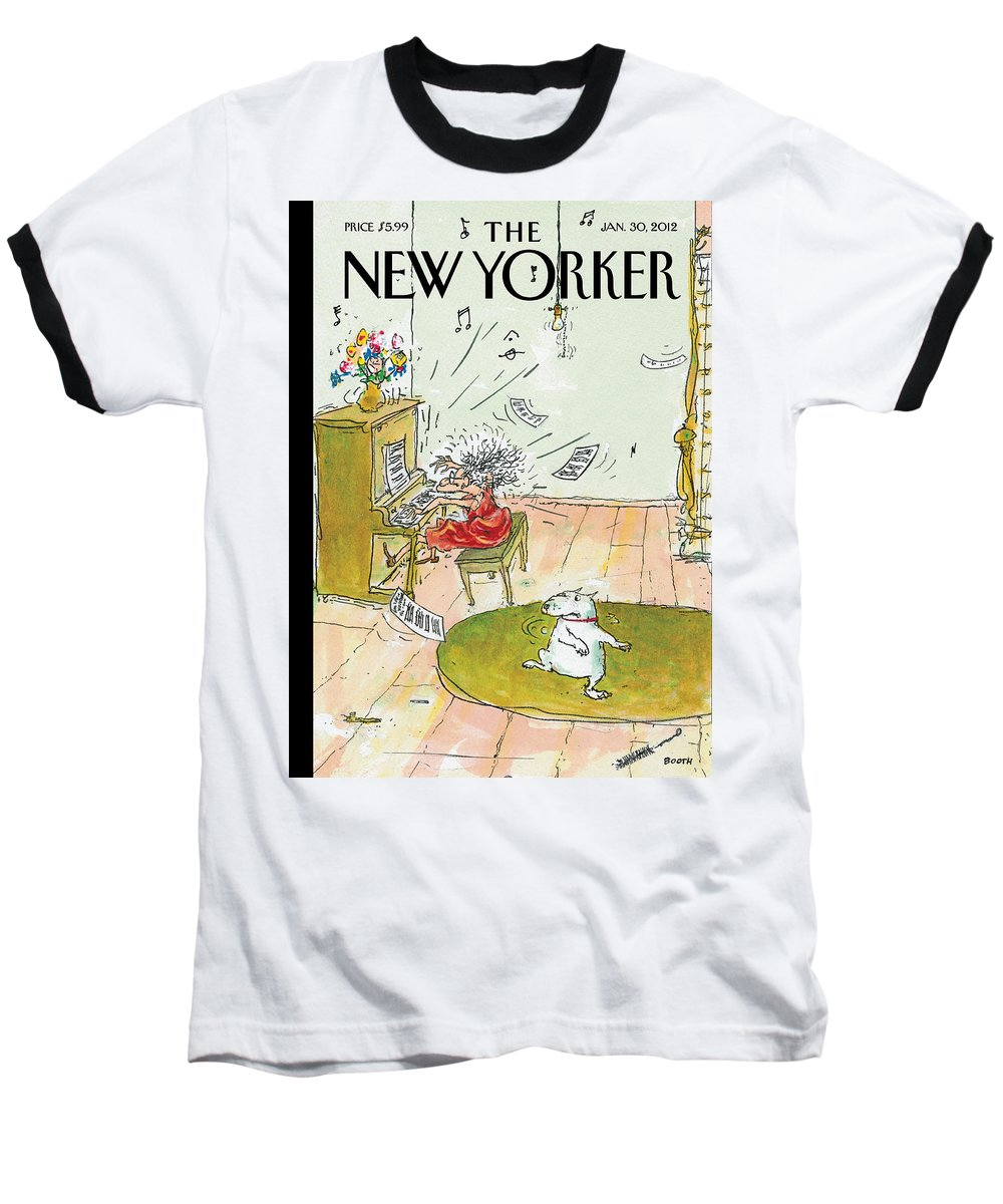 Woman Baseball T-Shirt featuring the photograph Winter Blues by George Booth