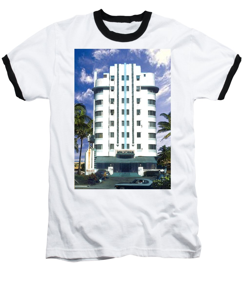 Miami Baseball T-Shirt featuring the photograph The New Yorker by Steve Karol
