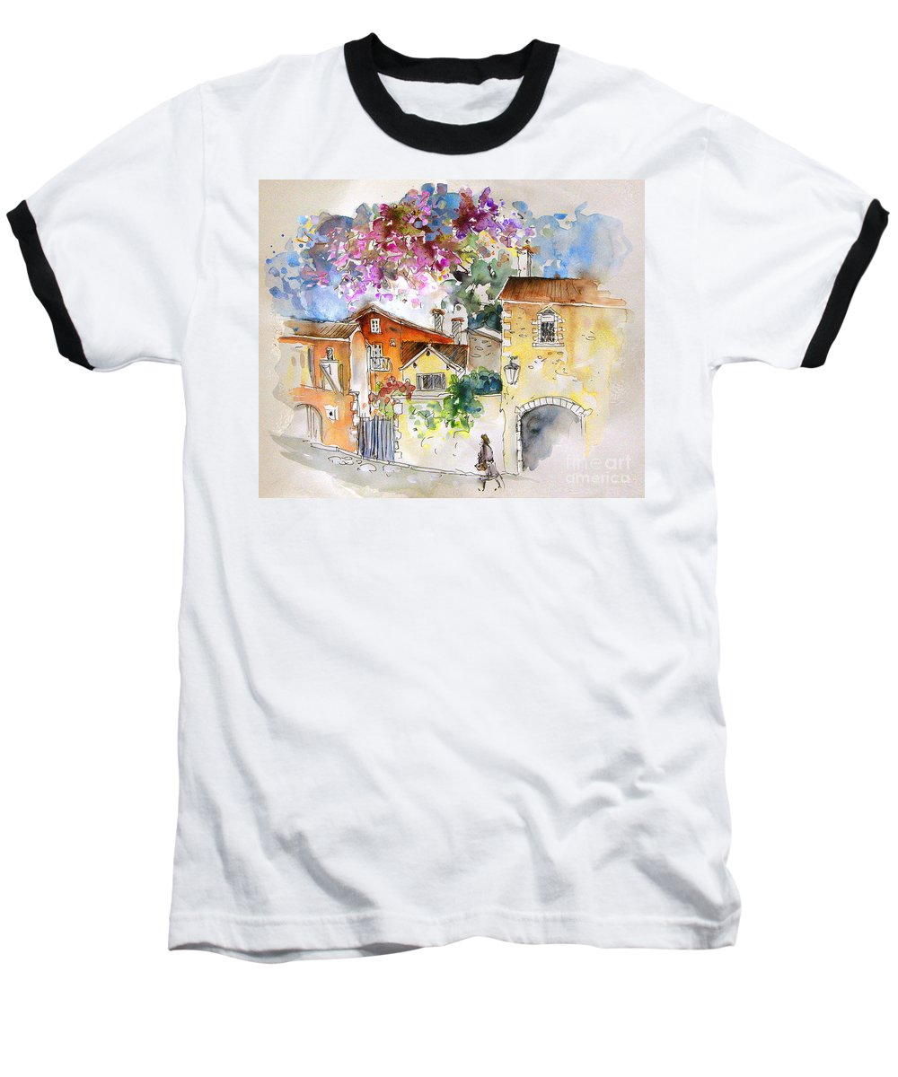France Paintings Baseball T-Shirt featuring the painting The Perigord In France by Miki De Goodaboom