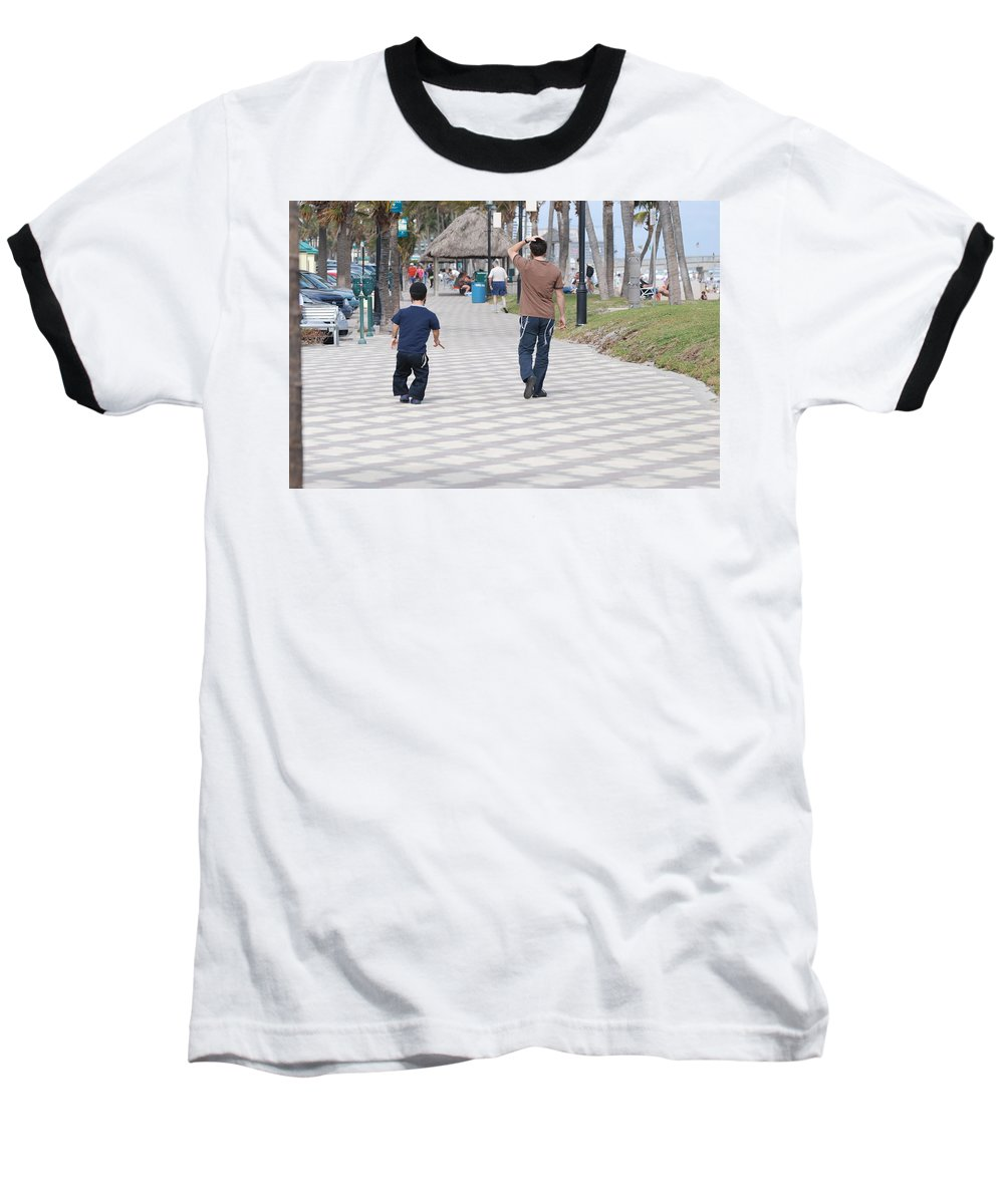 Man Baseball T-Shirt featuring the photograph The Walk by Rob Hans