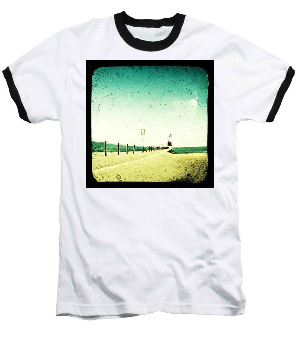 Beach Baseball T-Shirt featuring the photograph These Days Are Gone by Dana DiPasquale