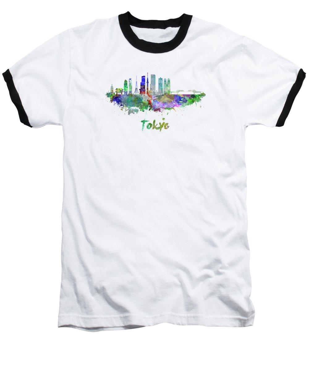 Tokyo Skyline Baseball T-Shirts