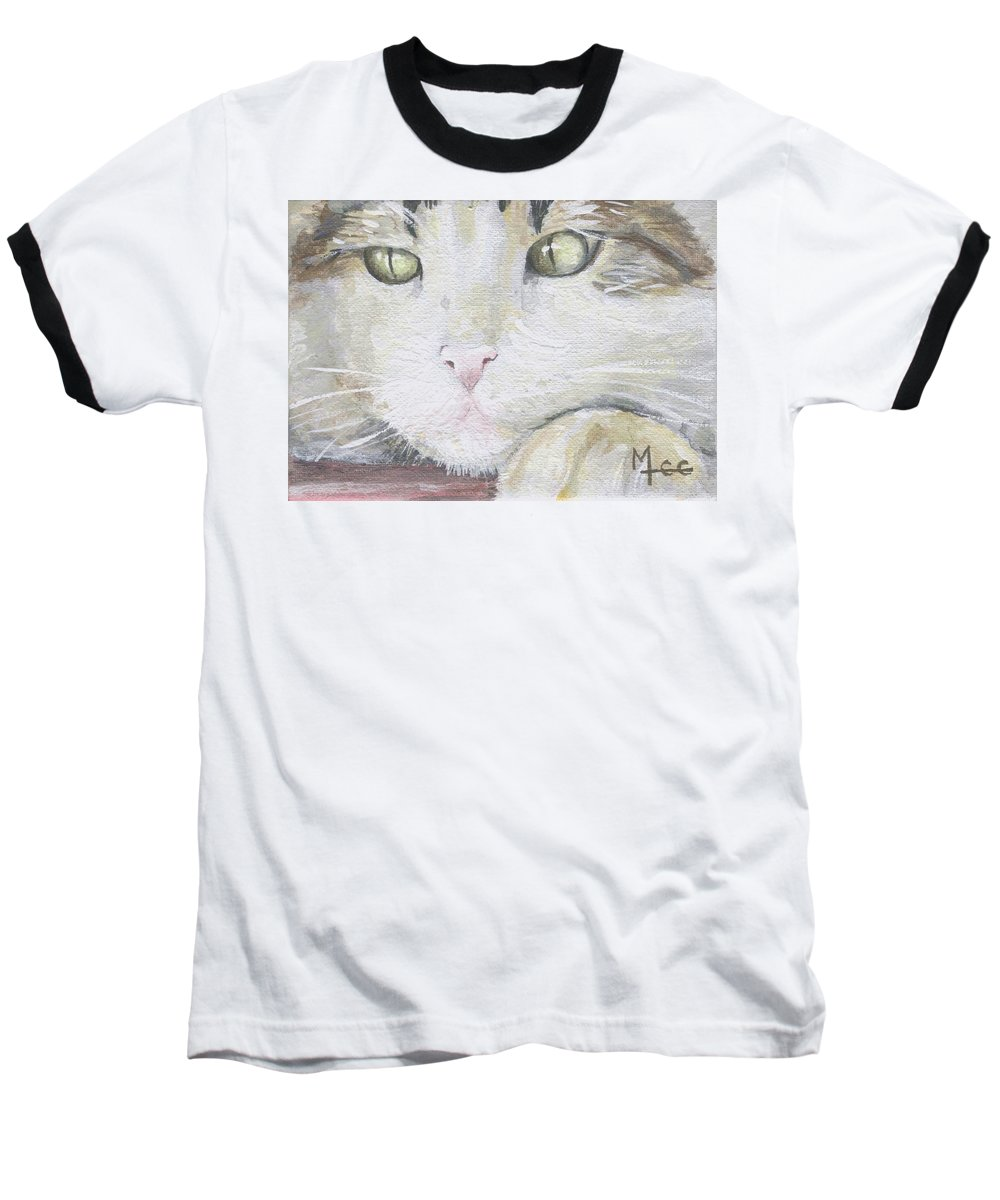 Charity Baseball T-Shirt featuring the painting Tommy by Mary-Lee Sanders