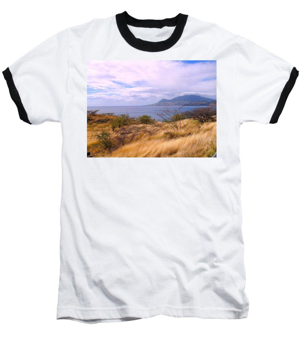 St Kitts Baseball T-Shirt featuring the photograph Towards Basseterre by Ian MacDonald