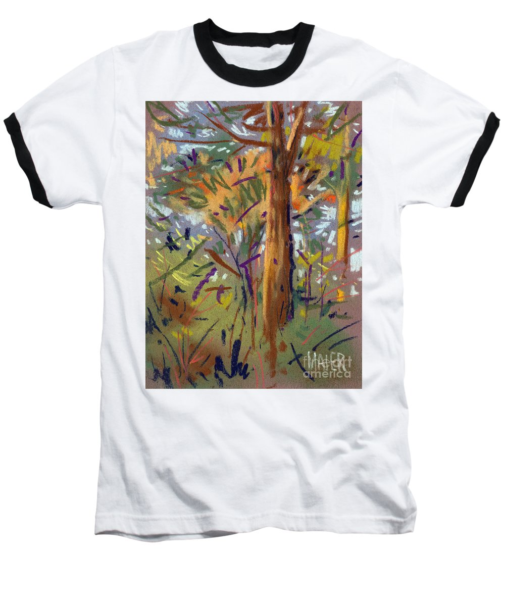 Trees Baseball T-Shirt featuring the drawing Tree Sketch by Donald Maier