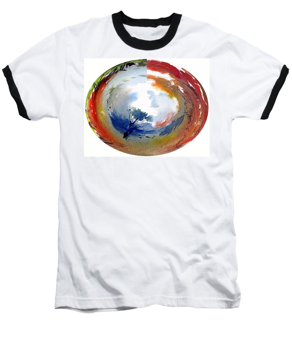 Landscape Water Color Watercolor Digital Mixed Media Baseball T-Shirt featuring the painting Universe by Anil Nene