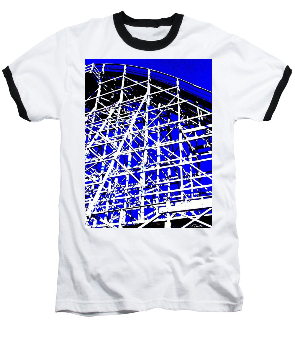 Up And Away Baseball T-Shirt featuring the photograph Up And Away by Ed Smith