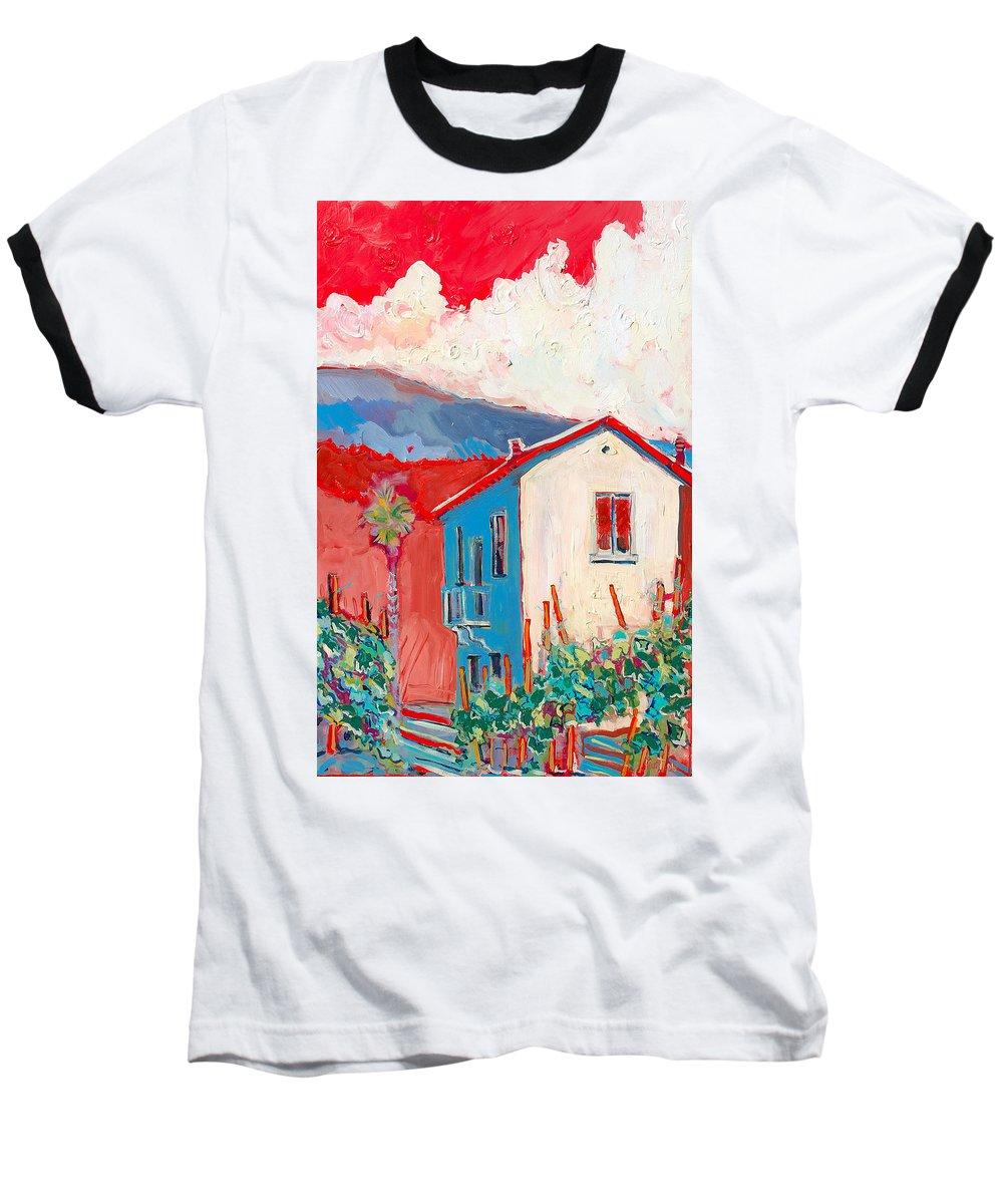Tuscany Baseball T-Shirt featuring the painting Vecchio Casa by Kurt Hausmann