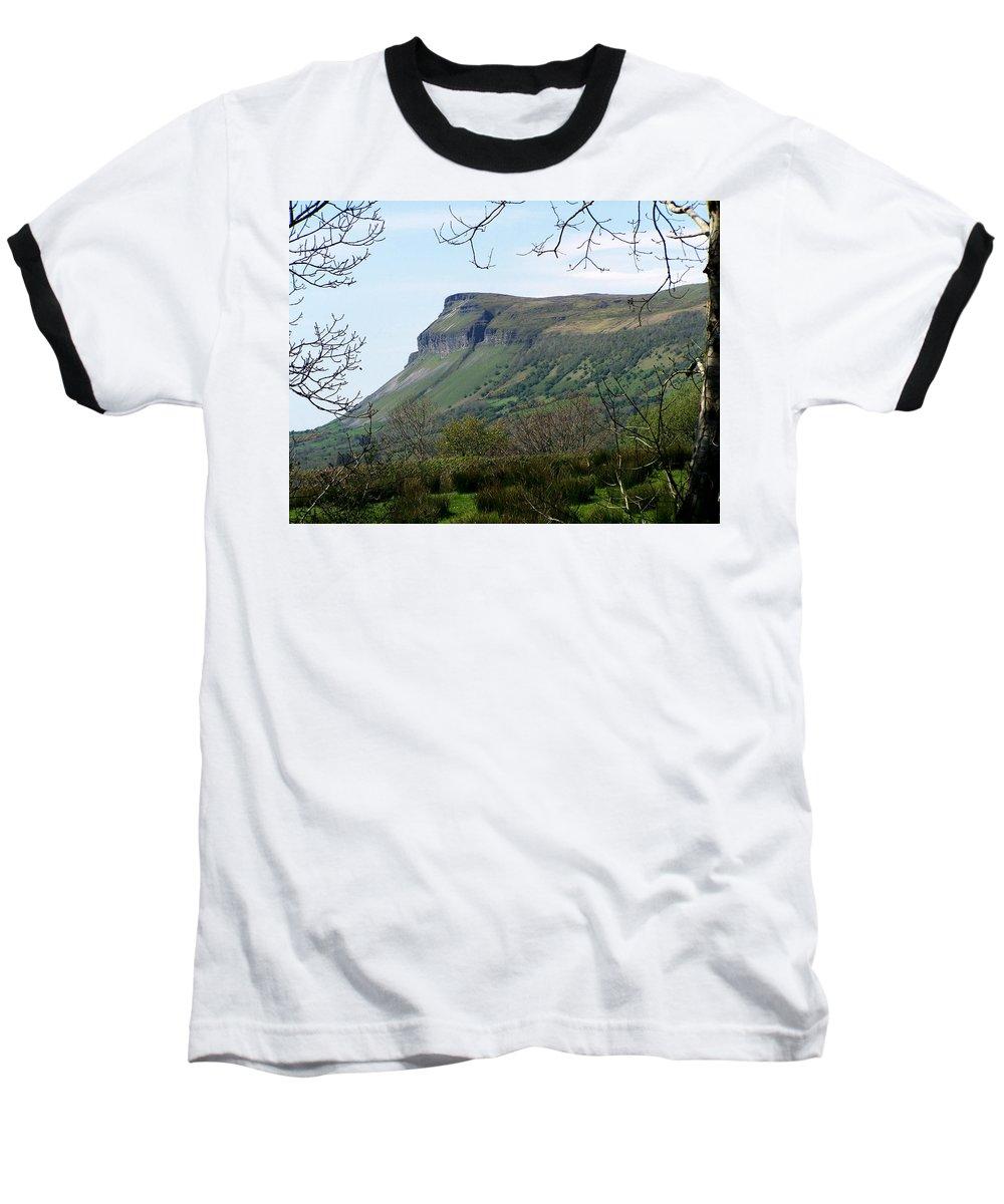 Irish Baseball T-Shirt featuring the photograph View Of Benbulben From Glencar Lake Ireland by Teresa Mucha