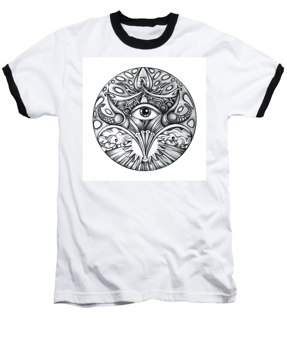 Eye Baseball T-Shirt featuring the drawing Vision by Shadia Derbyshire