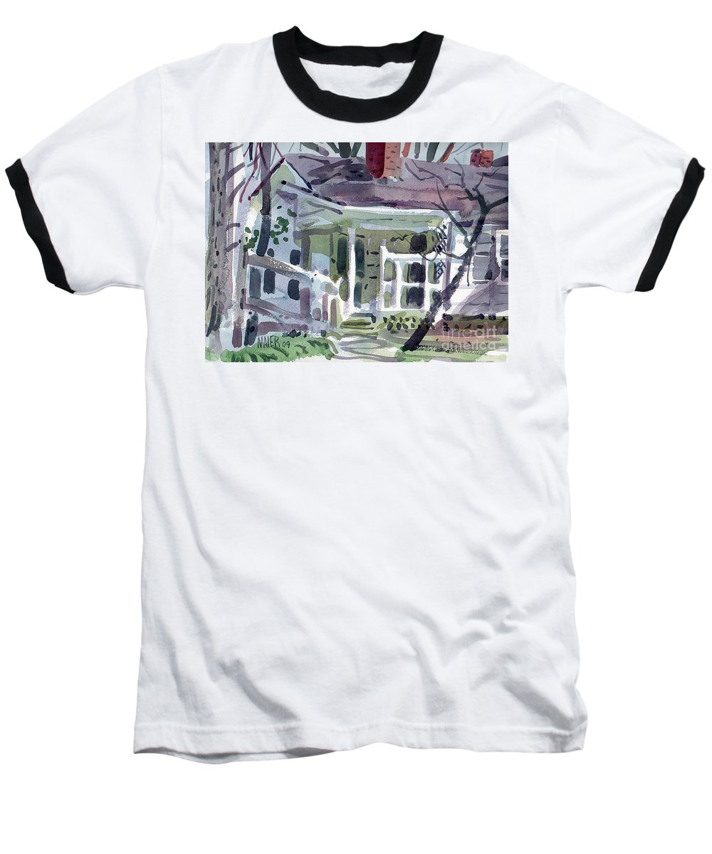 Wallis House Baseball T-Shirt featuring the painting Wallis House by Donald Maier