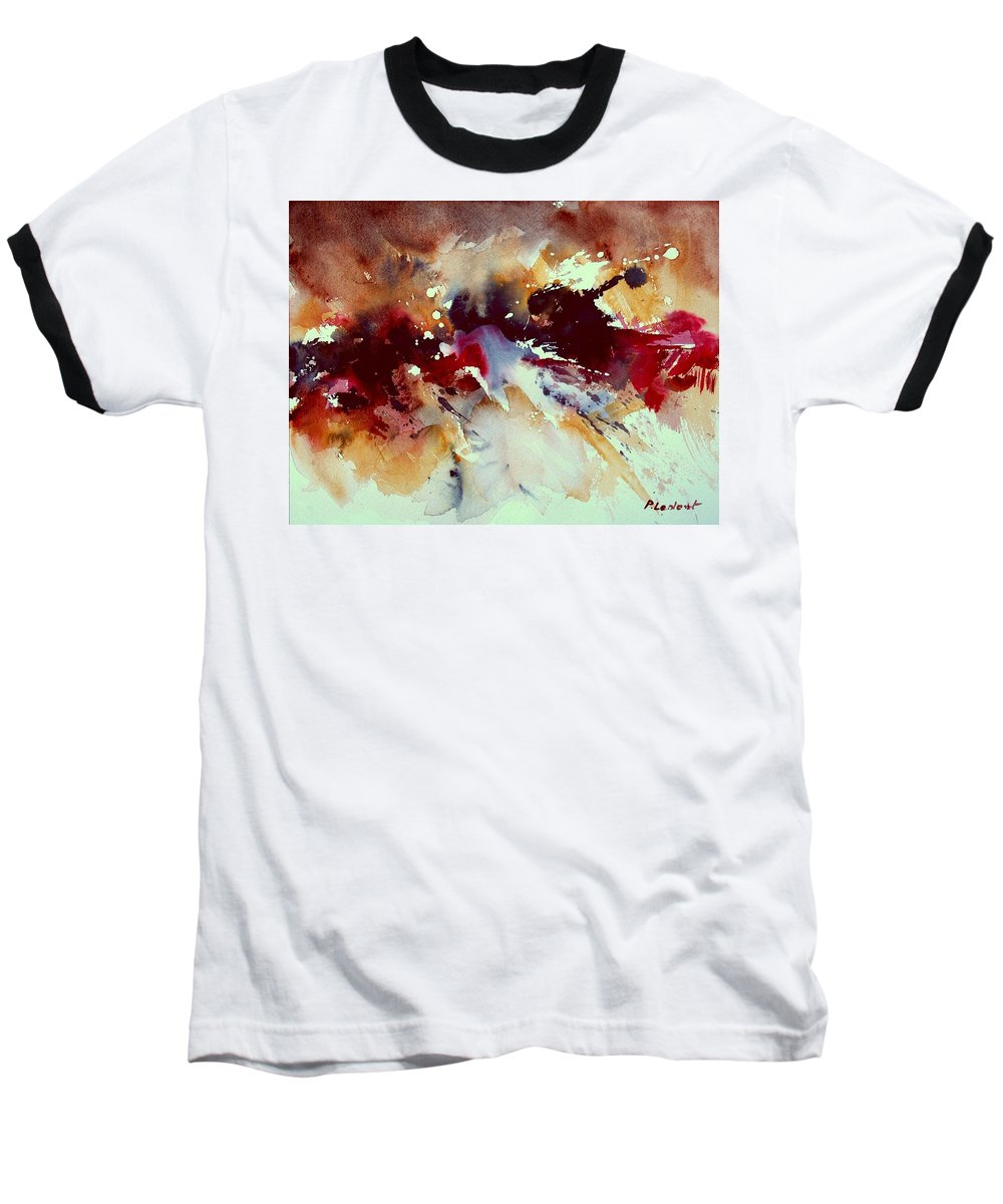 Abstract Baseball T-Shirt featuring the painting Watercolor 301107 by Pol Ledent