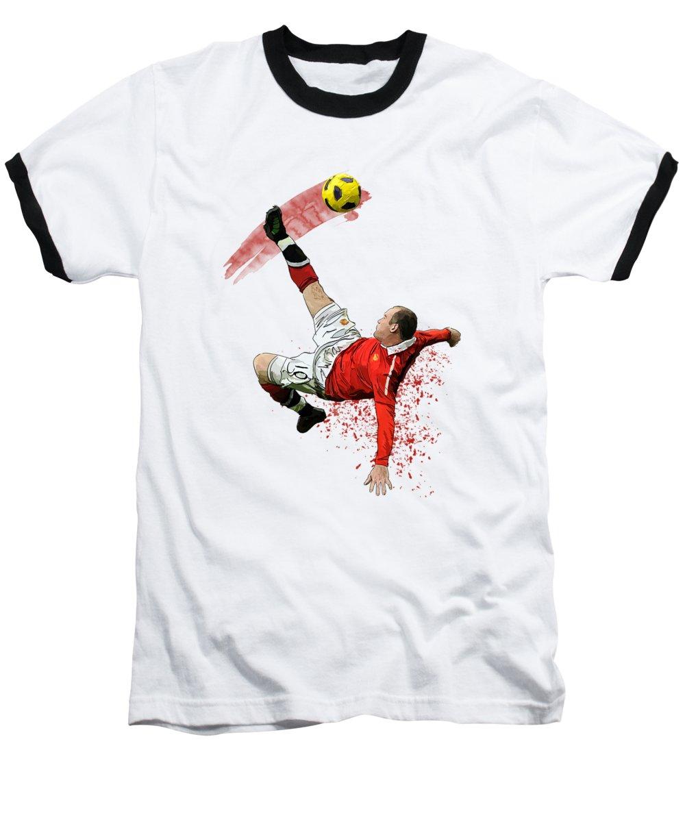 Wayne Rooney Baseball T-Shirts