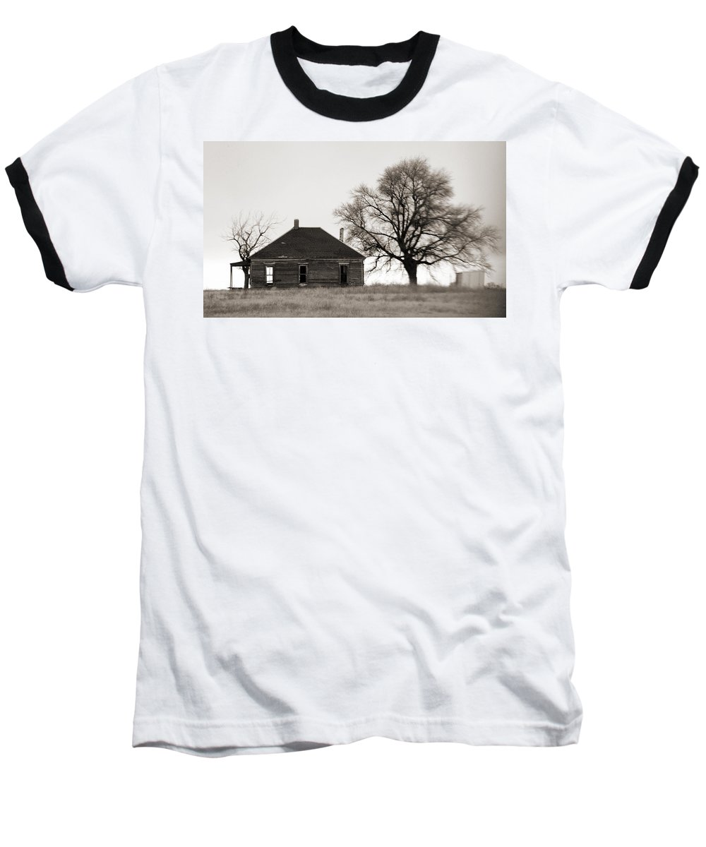 Texas Baseball T-Shirt featuring the photograph West Texas Winter by Marilyn Hunt