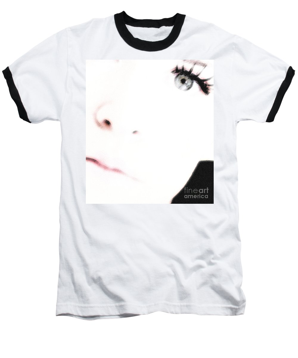Face Baseball T-Shirt featuring the photograph Where Is The Soul by Amanda Barcon