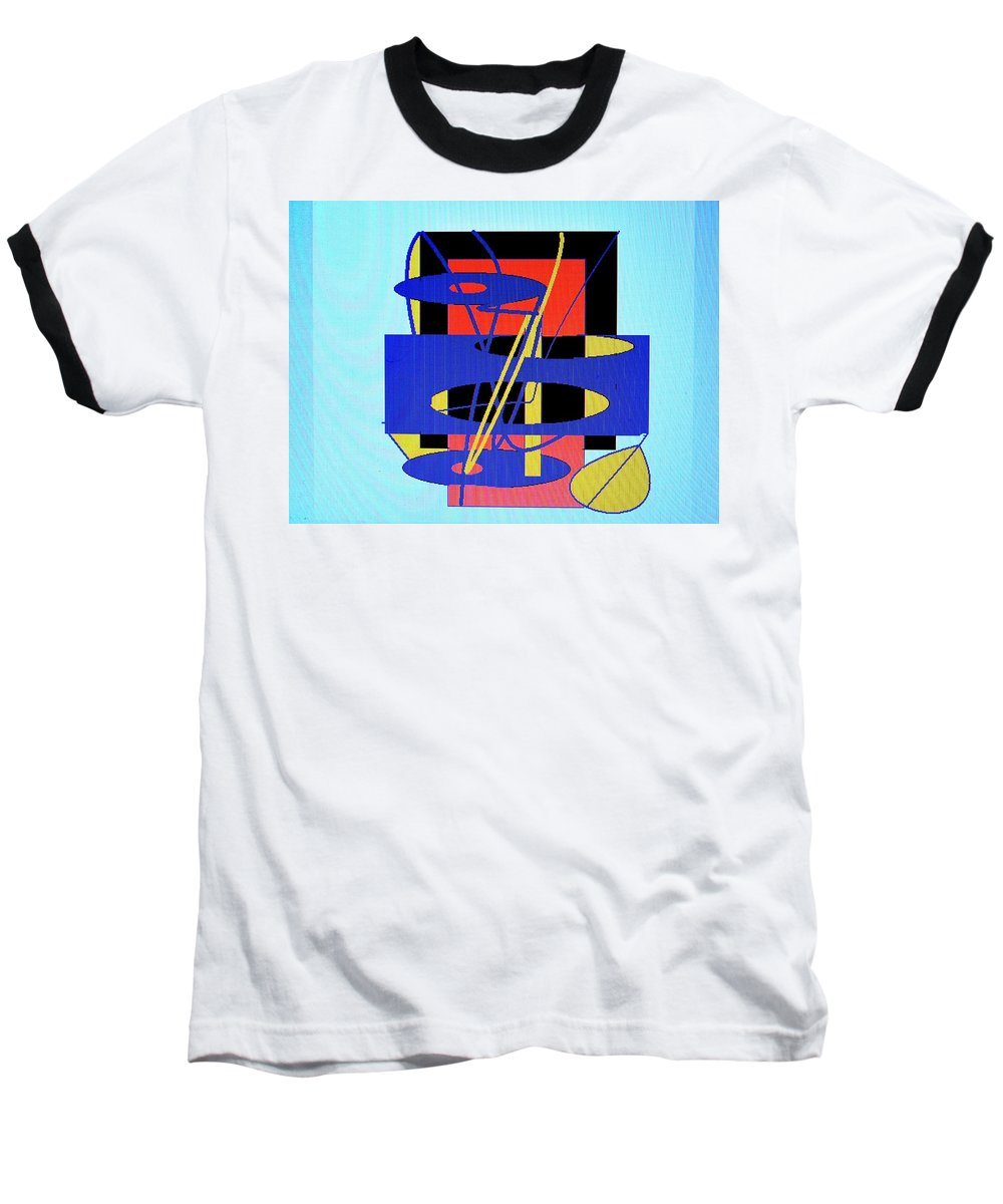 Abstract Baseball T-Shirt featuring the digital art Widget World by Ian MacDonald