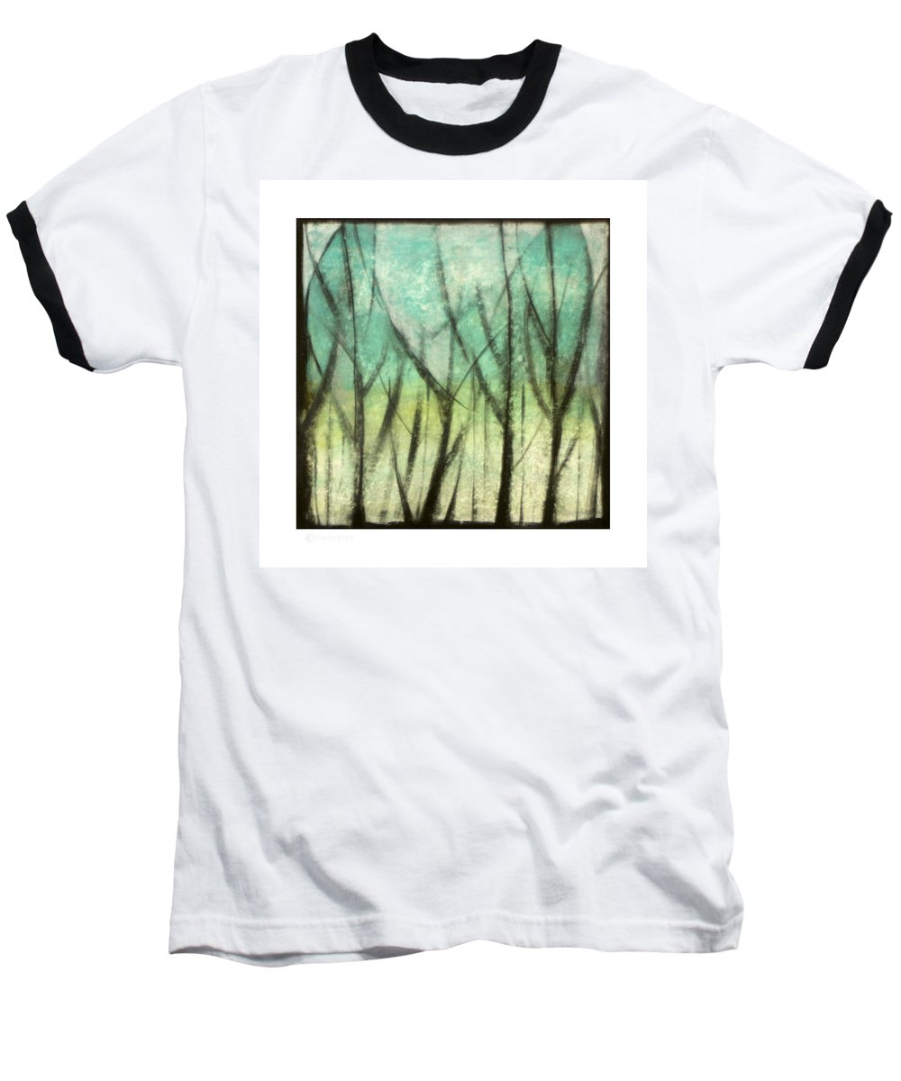 Trees Baseball T-Shirt featuring the painting Winter Into Spring by Tim Nyberg