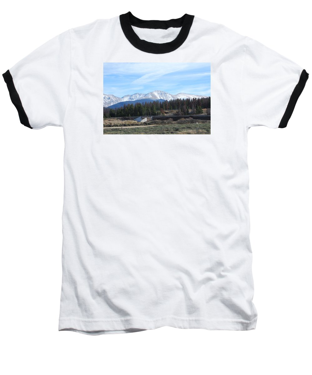 Colorado Baseball T-Shirt featuring the photograph Winter Park Colorado by Margaret Fortunato
