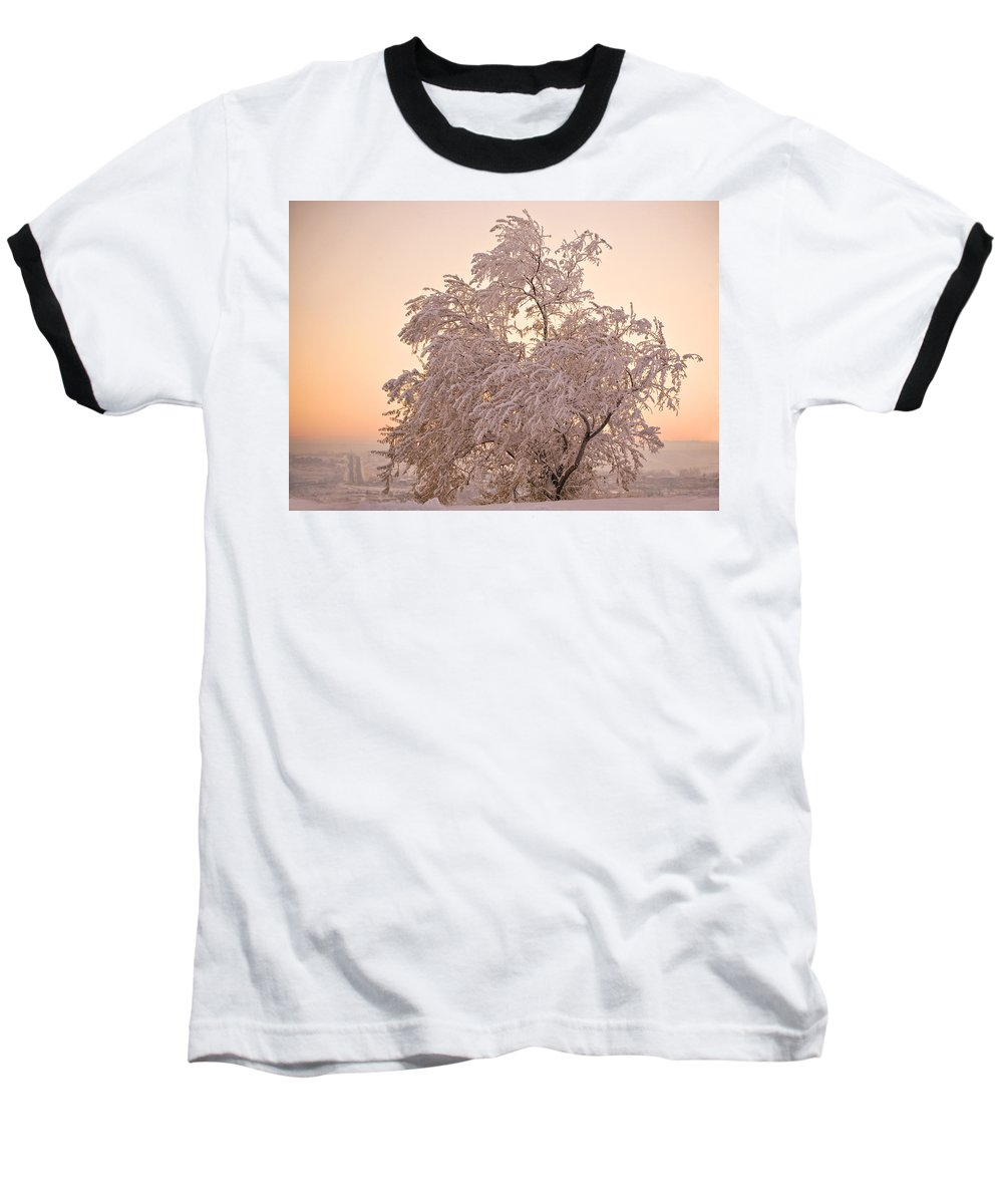 Winter Baseball T-Shirt featuring the photograph Winter Sunset by Marilyn Hunt