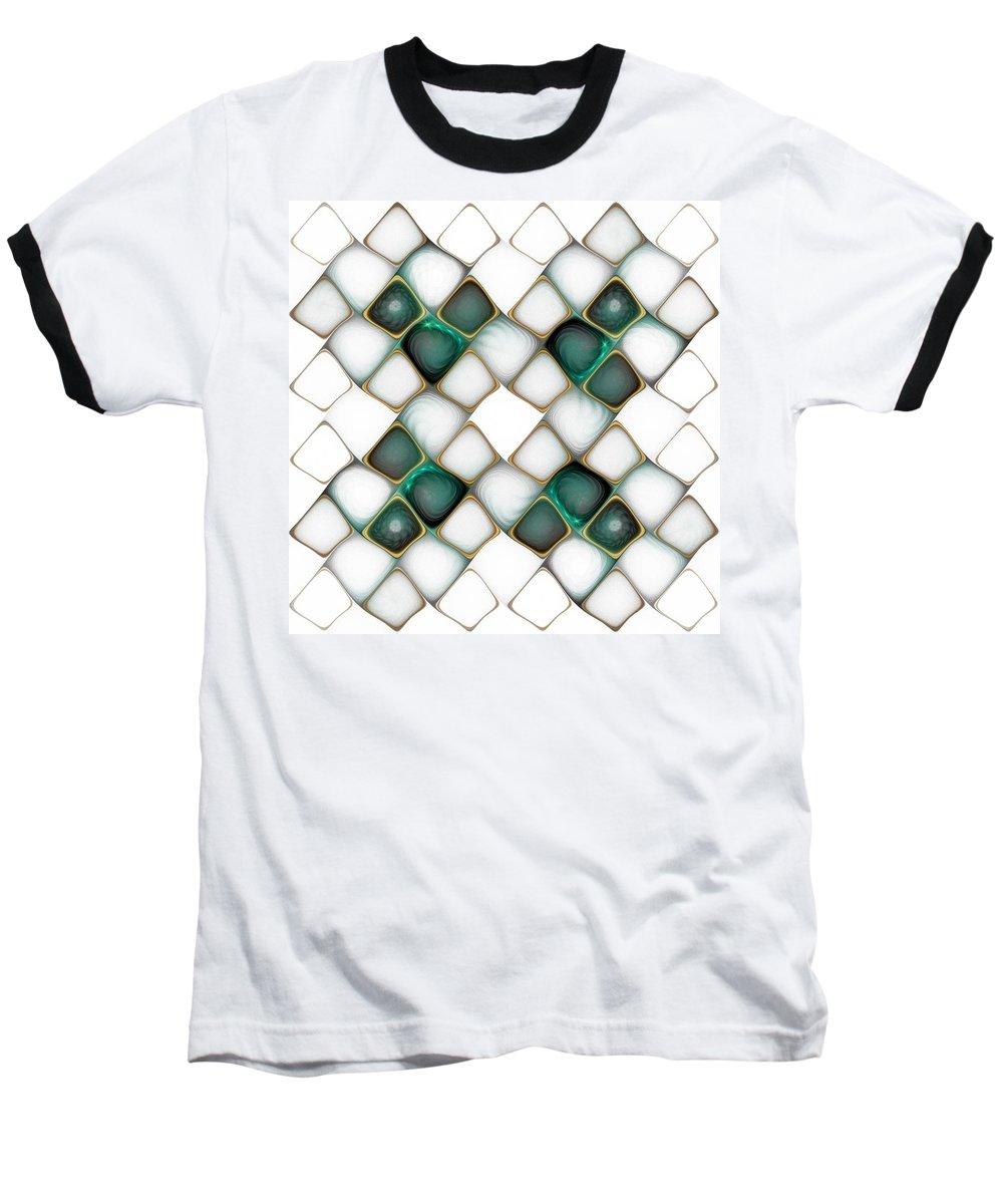 Digital Art Baseball T-Shirt featuring the digital art X Marks The Spot by Amanda Moore