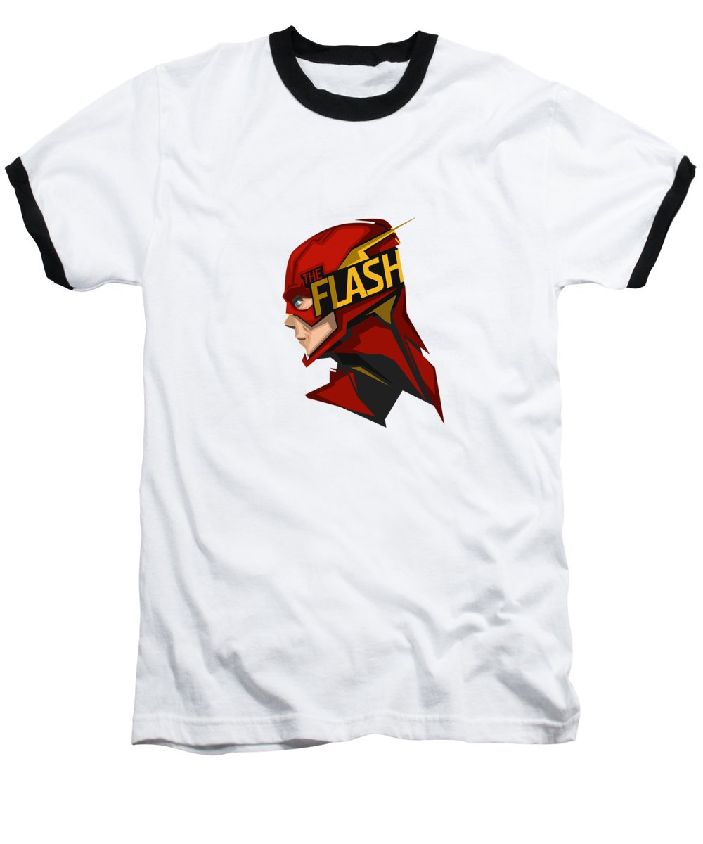 Flash Baseball T-Shirt featuring the digital art Flash by Geek N Rock