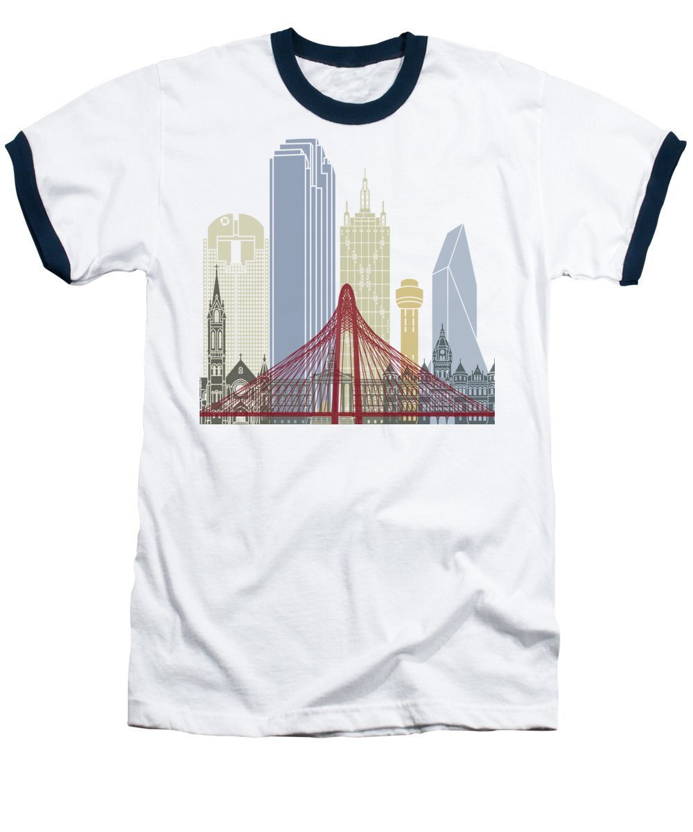 Dallas Skyline Baseball T-Shirts