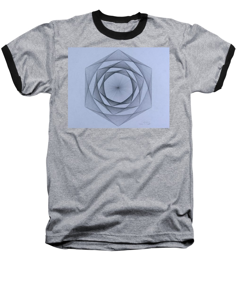 Jason Padgett Baseball T-Shirt featuring the drawing  Energy Spiral by Jason Padgett