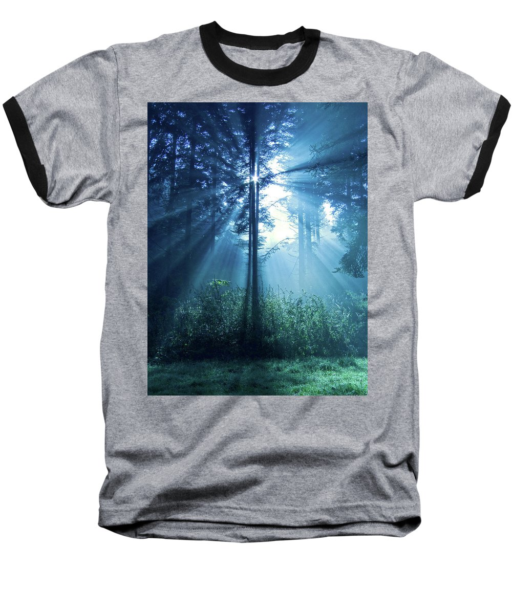 Nature Baseball T-Shirt featuring the photograph Magical Light by Daniel Csoka