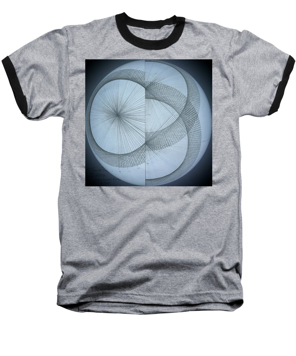 Photon Baseball T-Shirt featuring the drawing Photon Double Slit Test by Jason Padgett