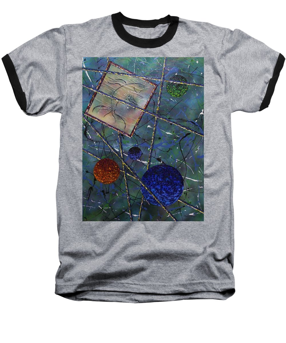 Fish Baseball T-Shirt featuring the painting Pisces by Micah Guenther