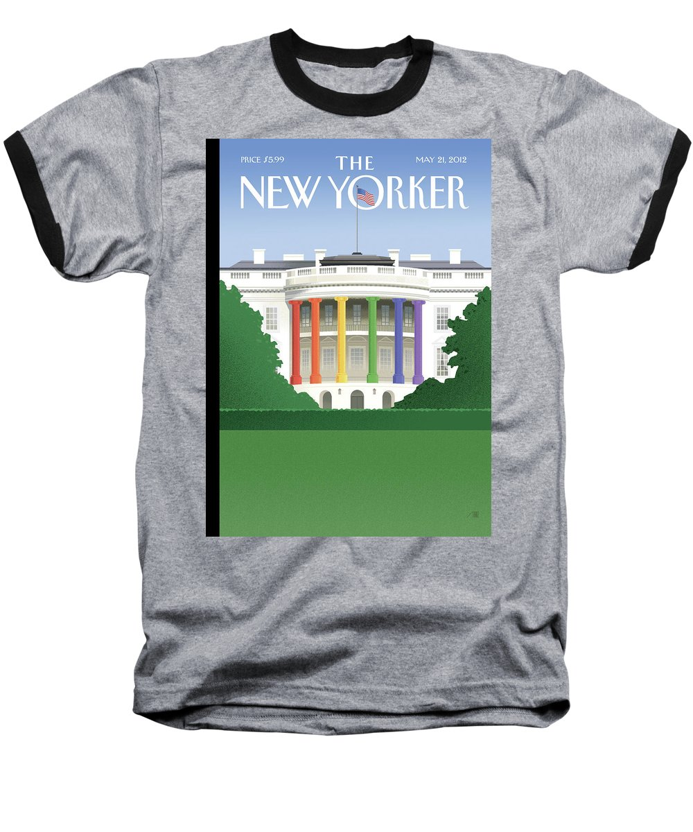 President Baseball T-Shirt featuring the painting Spectrum Of Light by Bob Staake